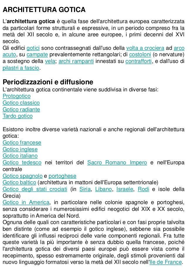 26. Architettura gotica - Caratteri generali