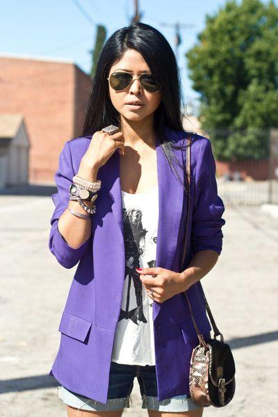 OoOohhhh - purple blazer.