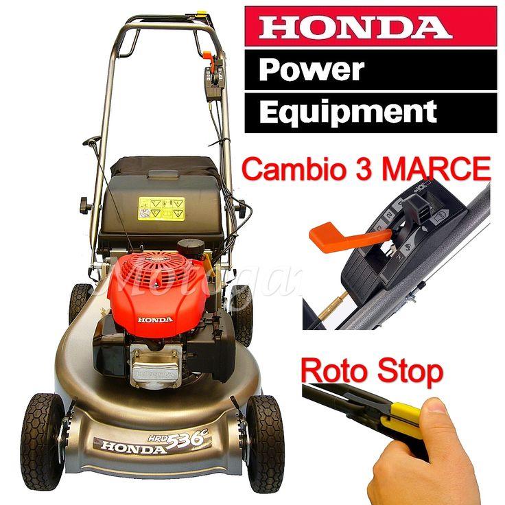 Rasaerba Honda HRD536 C3 TXEA taglio Raccolta + GCV160 + 3 Velocità + Roto Stop