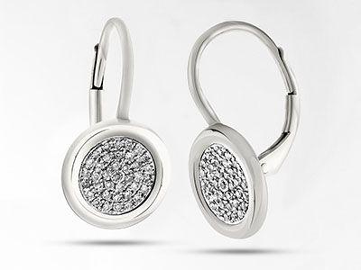 SOPHIA BY DESIGN PAVE DIAMOND EARRINGS $895