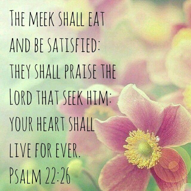 Psalm 22:26 KJV