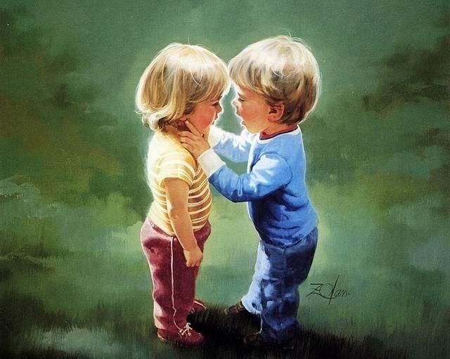 """""""Что такое любовь?""""-спросили у маленького мальчика.  """"Вчера я отдал конфету девочке, она её ела, а мне было сладко""""- ответил он."""