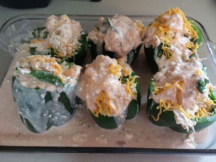 Cream cheese Chicken Enchilada Stuffed Peppers