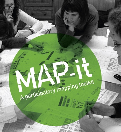 MAP-it is a tool for participatory cartography and conversation. It's a low-tech mapping tool that allows you to debrief past projects, manage current ones and plan future activities. It´s a hands-on tool, an open and extendible set of icons that allows participants to make their thoughts explicit in a visual way, in the form of a map.