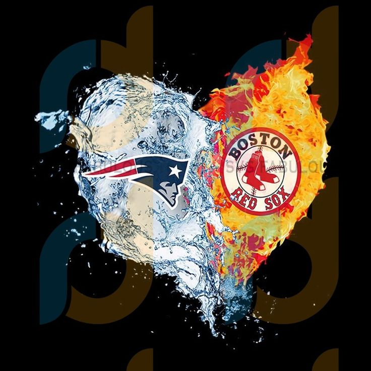 New england patriots and boston red sox png clipart