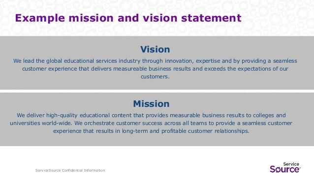 Image Result For Vision Statement Examples For Customer
