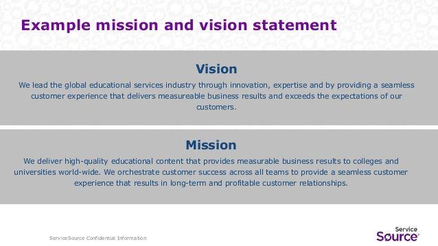 resume vision statement