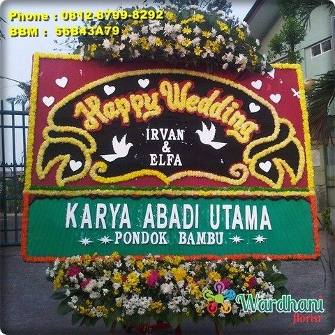 Bunga Papan Happy Wedding HW653WF
