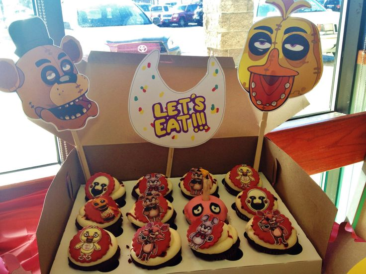 Five Nights at Freddy's birthday party, the finished product! Fnaf