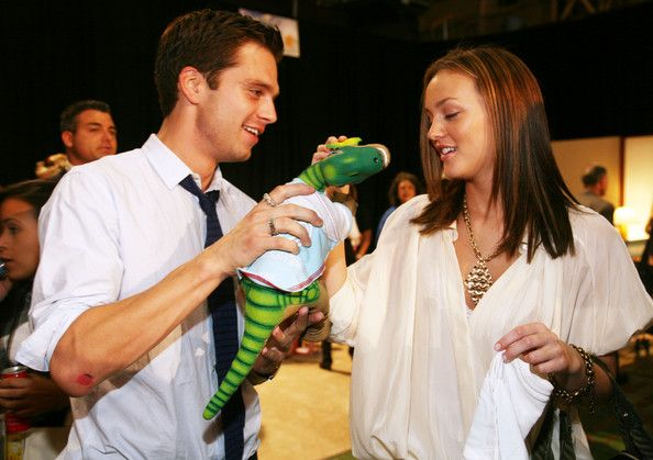 "Leighton Meester and Sebastian Stan Photo - 15th Annual ""Kids For Kids"" Celebrity Carnival - Inside"