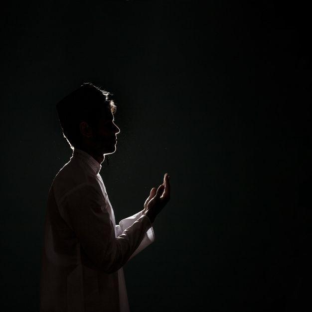 Silhouette Of Muslim Man Praying Man Praying Muslim Pictures Muslim Pray