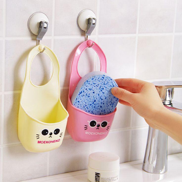 3 UNIDS/SET jabón de Tocador Organizador estante paño Esponja de almacenamiento en rack cesta Accesorios de cocina gadgets Suministros Artículos de Productos