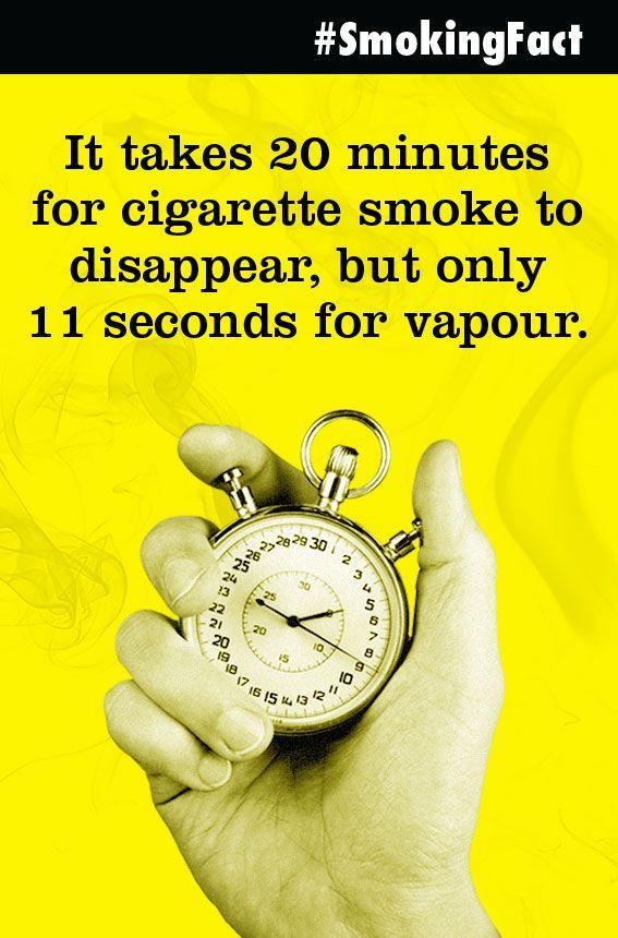 Not only is cigarette smoke stinkier, it also lingers a whole lot longer!  #quitsmoking #vapelife #vapenation #vapefam #smokefree #ecigs #vaping #vapes #eliquid #vape #smokingfacts #Vapebenefits #vapehealth #vapefacts