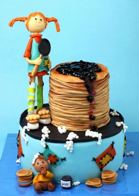 Pippi Longstocking Cake with pancakes...