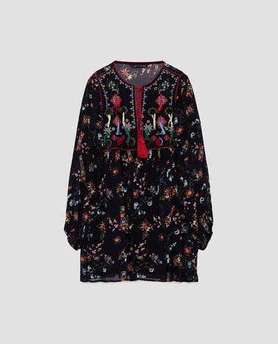 CHECKED COMBINATION DRESS-Mini-DRESSES-WOMAN-SALE   ZARA United States