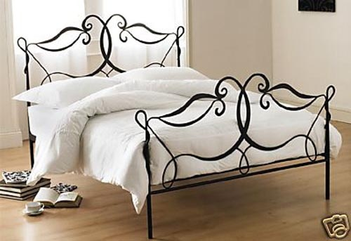 minimalist wrought iron bed photos