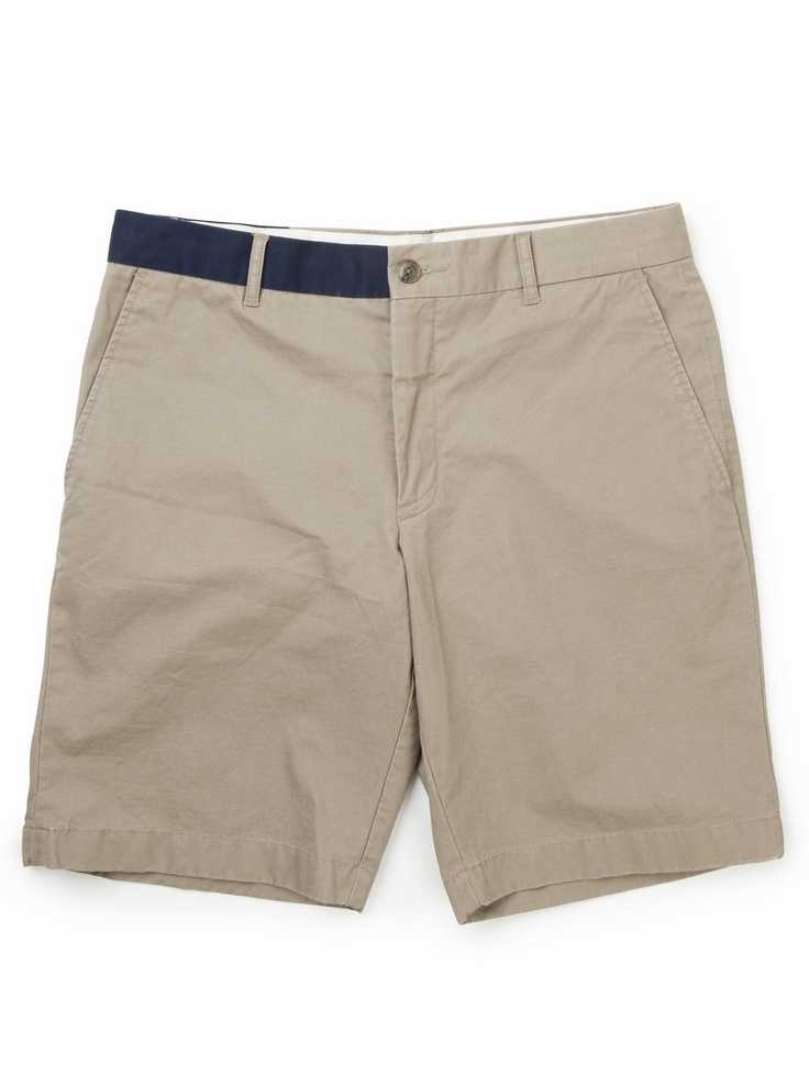 brooksfield Banded Chino Shorts in beige.