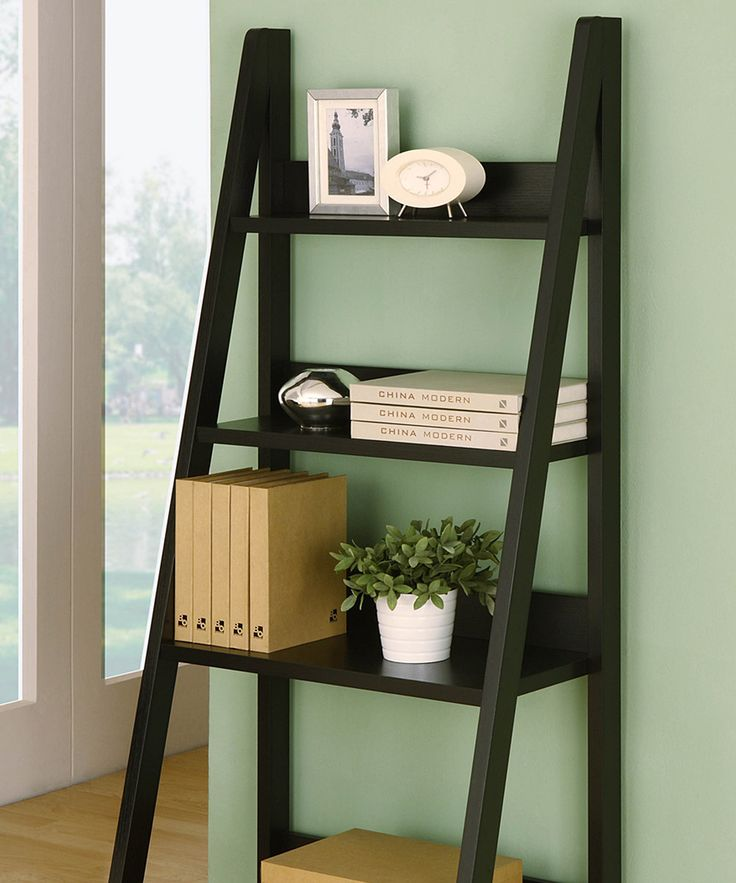 Look at this black four tiered open display shelf on for Furniture of america nara contemporary 6 shelf tiered open bookcase