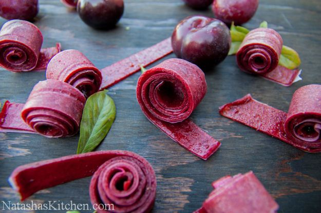 Plum Fruit Leather | 14 Fruit Roll Ups Recipes That Your Kids Will Really Love by Homemade Recipes at http://homemaderecipes.com/14-fruit-roll-ups-recipes/Leather