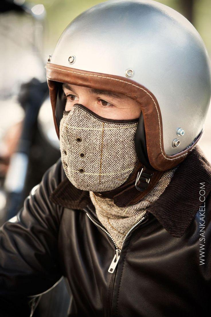 Masque cache cou tweed marron - Brown neck warmer mask   SANKAKEL    http://www.sankakel.com/