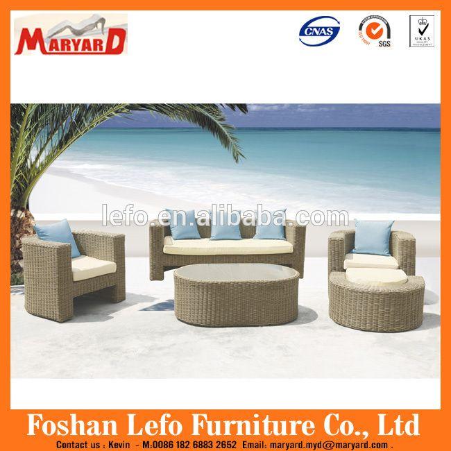 Mimbre al aire libre muebles de Ratán sofá de la esquina muebles/muebles de jardín de ratán sofá seccional