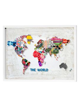Hipster Mapa Mundi (3-D Shadowbox) from Discover Something New: 3-D Shadowbox Art on Gilt