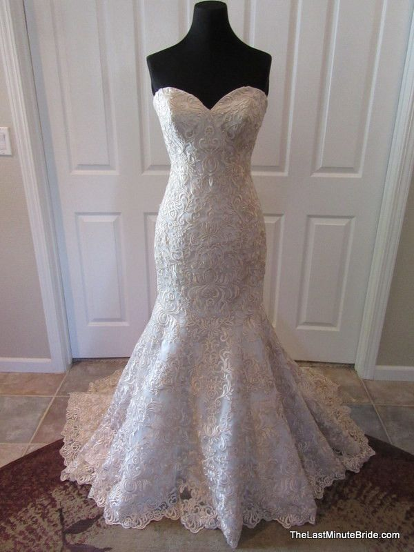 Allure Bridals Wedding Dress Style 2811 Standout with this strapless fit and…
