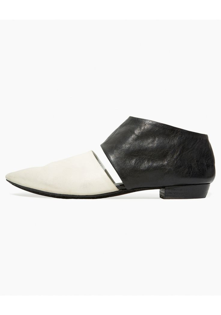 Marsèll | cut out shoe. Perfectly distressed black and white for spring. #springtrends