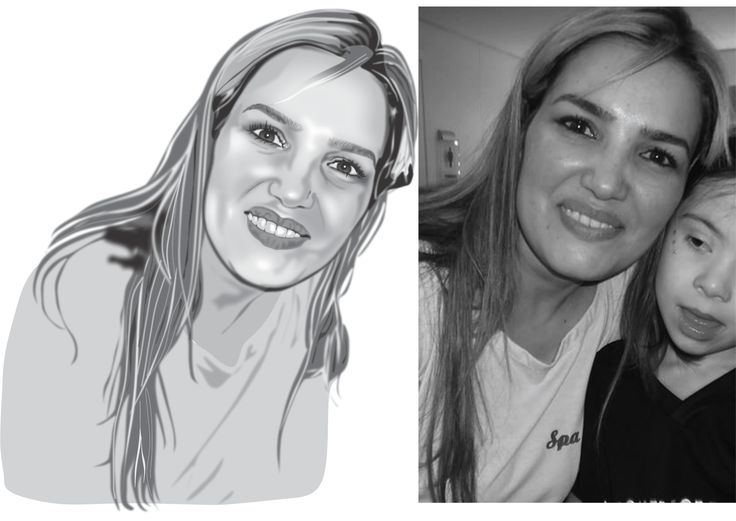 Desenho artístico - Auto retrato - Corel Draw