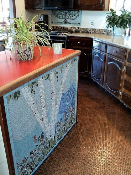 Penny Floor And Mosaic Tile Floors Pinterest