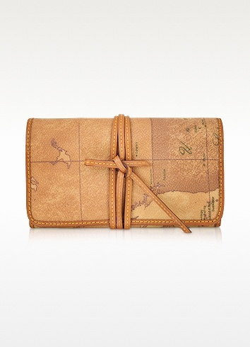 Alviero Martini 1A Classe 1a Prima Classe - Jewelry Roll- $152 Italian design. Famed geo-print with leather tie strings. Foldable and rollable for ultimate portability.