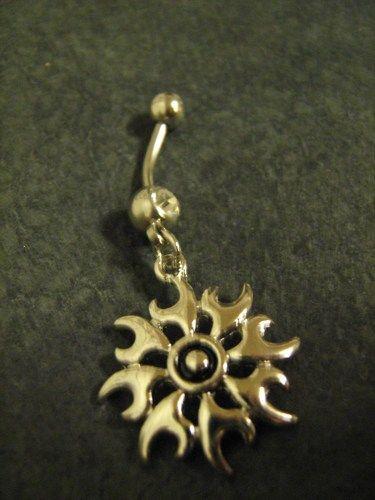 Tribal Tattoo Belly ring Piercing Body Jewelry Navel Body Jewelry | Dreamcatcherman - Jewelry on ArtFire