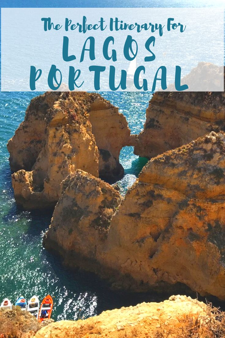 The Ultimate Lagos Portugal Travel Guide! Everything you need to know before visiting the beautiful Algarve coast in Portugal! This is how to spend the perfect 2 days exploring Lagos!