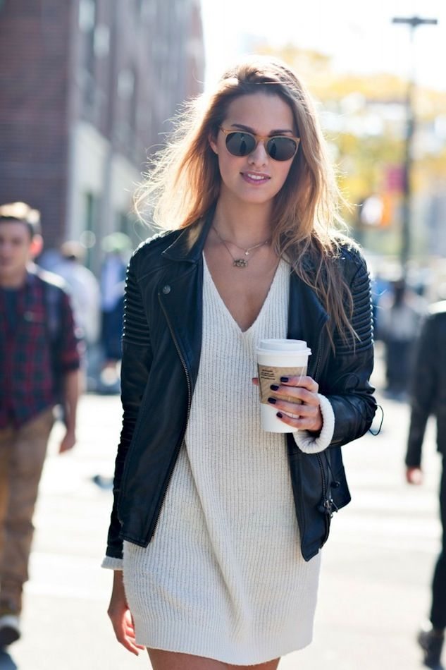 Model-Off-Duty: Cecilia Singley | Sweater Dress.......bureauofjewels/etsy and facebook...XXX