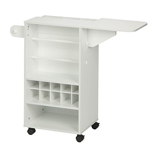 HoneyCanDo CRT06343 Rolling Craft Storage Cart with Fabric Drawer White * Read more reviews of the product by visiting the link on the image.(It is Amazon affiliate link) #70likes