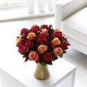 Gold vase with roses, in different sizes available http://www.lamberdebie.ie/shop/subcategory/autumn-flowers