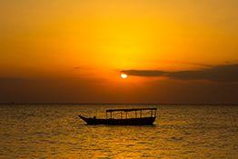 Beautiful shot in Paje Zanzibar, Special Island in Tanzania