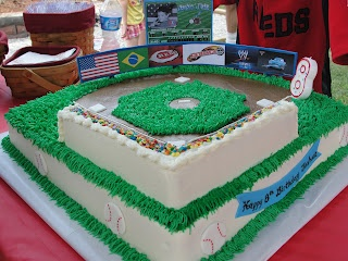Baseball Field Cake, more pics in the blog!