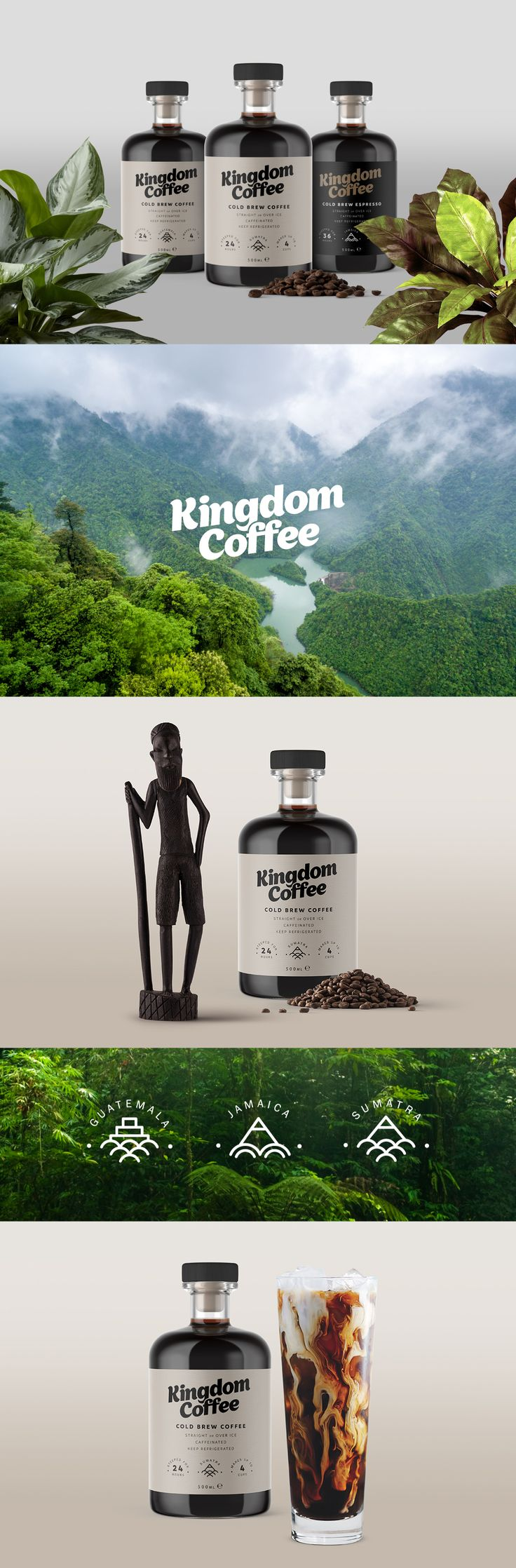 Kingdom Coffee imports organic, fairtrade coffee into the Republic of Ireland, and now we have an opportunity to create our first consumer facing product, cold brew coffee. #packaging #coffee #design