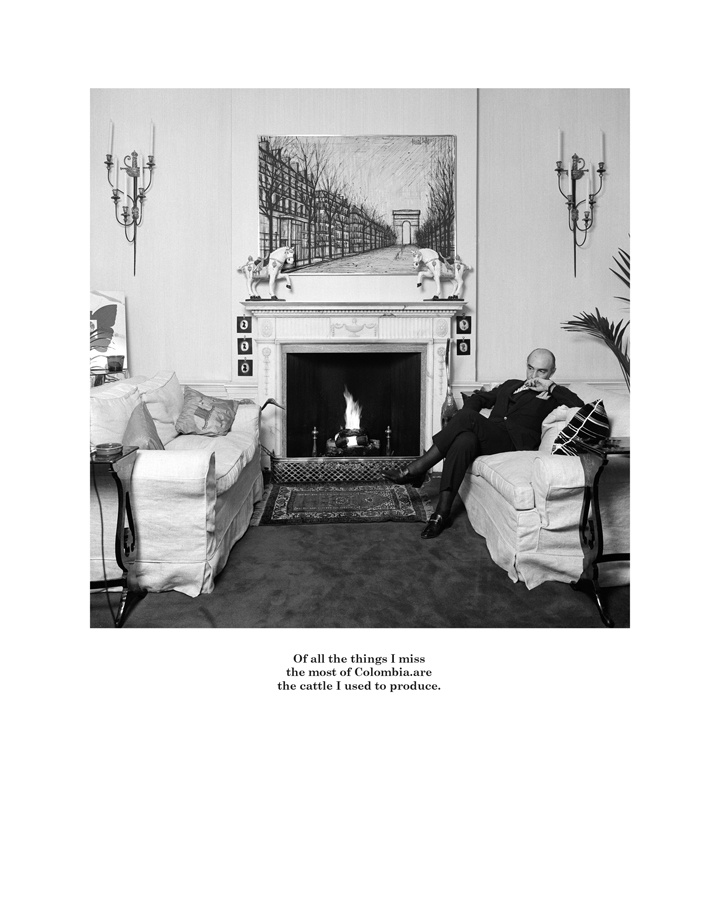 Belgravia by Karen Knorr. Of all the things I miss the most of Columbia are the cattle I used to produce.