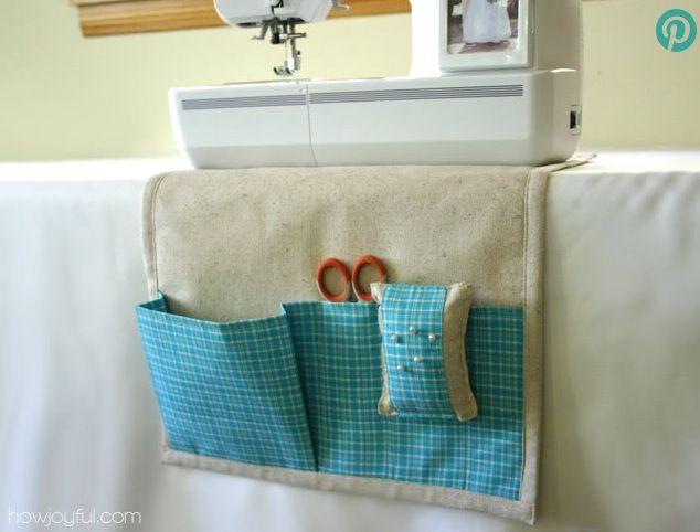 Come fare pannello portatutto cucito in stoffa da mettere sotto la macchina da cucire - Tutorial