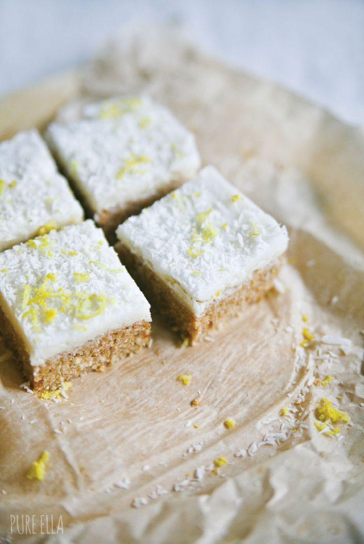 No-bake, Raw Coconut Lemon Bars