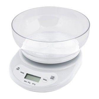 Balanza Cocina Electronica 3 Kg. C/r. Bl Precio en Atudisposicion:   26,75€
