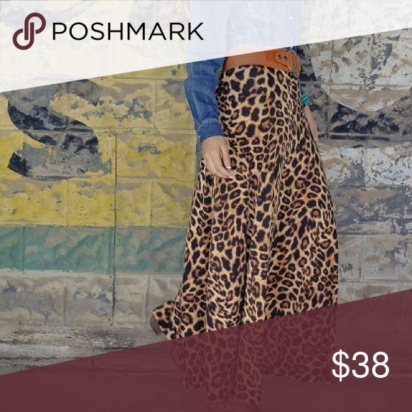Cheetah skirt Cheetah print maxi skirt Skirts Maxi