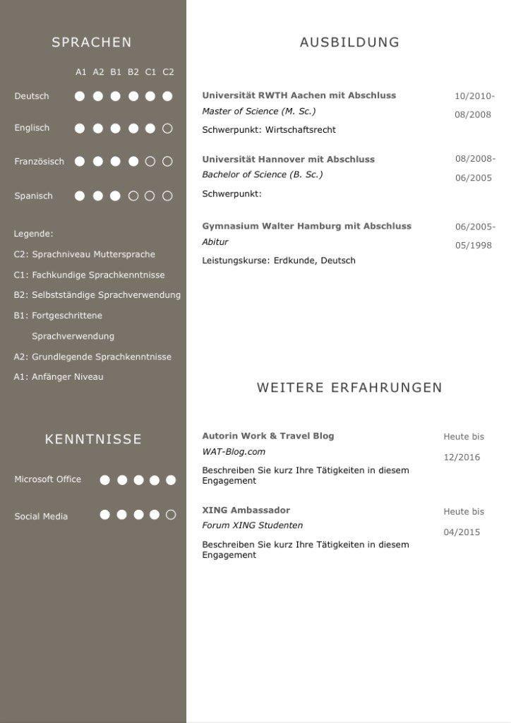Cv Lebenslaufvorlage Download Fur Viel Berufserfahrung Highlights 6 Seiten Unterstutzt Europaischen Re Cv Lebenslauf Lebenslauf Lebenslauf Design Vorlage