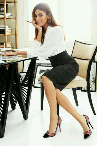 I love the shoes to spice up this classic office outfit.