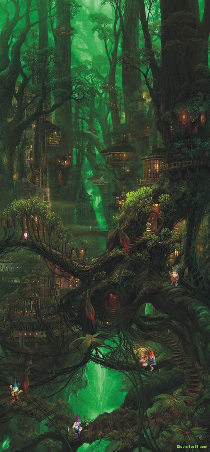 If you look closer in that Fairywood, you see the little gnomes live together. Their community is as old as beginning of all times...