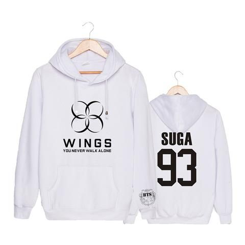 BTS Bangtan Boys You Never Walk Alone Wings Suga 93 Fashion Hoodie  #BTS #Bangtan #Boys #You #Never #Walk #Alone #Wings #Suga #93 #Fashion #Hoodie #Kidolstuff