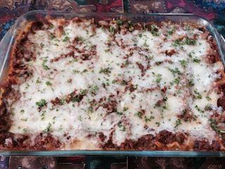Three Cheese Lasagna with Veggies - Recipe Detail - BakeSpace.com