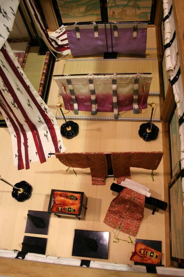Layout of a heian era room